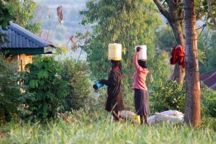 At home base we have no running water or electric power