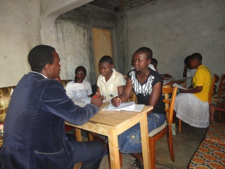 At our home base during spring break where some of our students receive tutoring for subjects they have a weakness in