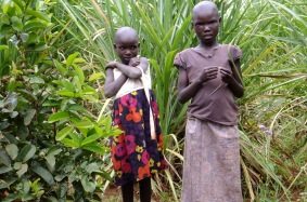 Neighbour girls who will not go to school without help